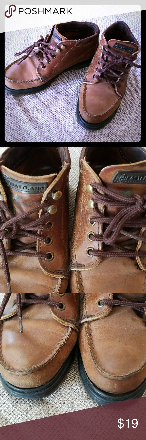 Women's size 8 Eastland brown leather Chukka boots Adorable hipster boots Eastland Shoes Lace Up Boots