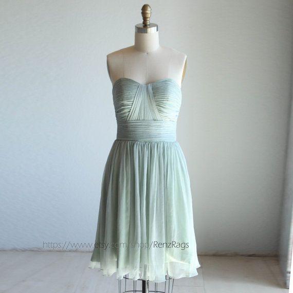 Bridesmaid Dress/  /sweetheart strapless / MINT green dusty shale /dresses /Fairy / Dreamy / Bridesmaid / Party / wedding / Bride (B013)