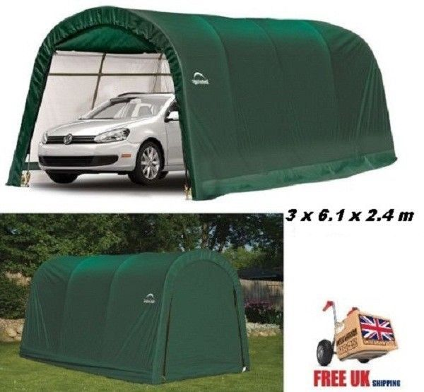 Portable Carport Garage Storage Car Atv Shelter Shed Tent Canopy Heavy Duty Door Portable Carport Car Shed Canopy Tent