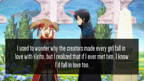And Silica thought of him as more of a big brother since he helped her out...