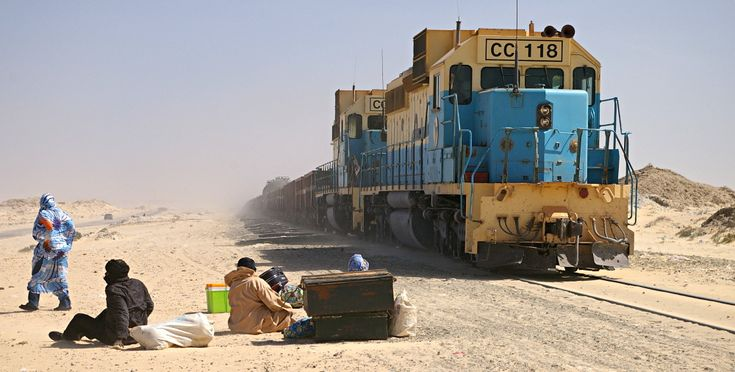 SNIM ore train Nouadhibou - Mauritánská železnice – Wikipedie