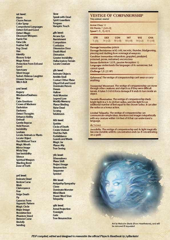 The Animancer | Homebrew Classes | Dnd classes, Dnd characters, Dnd