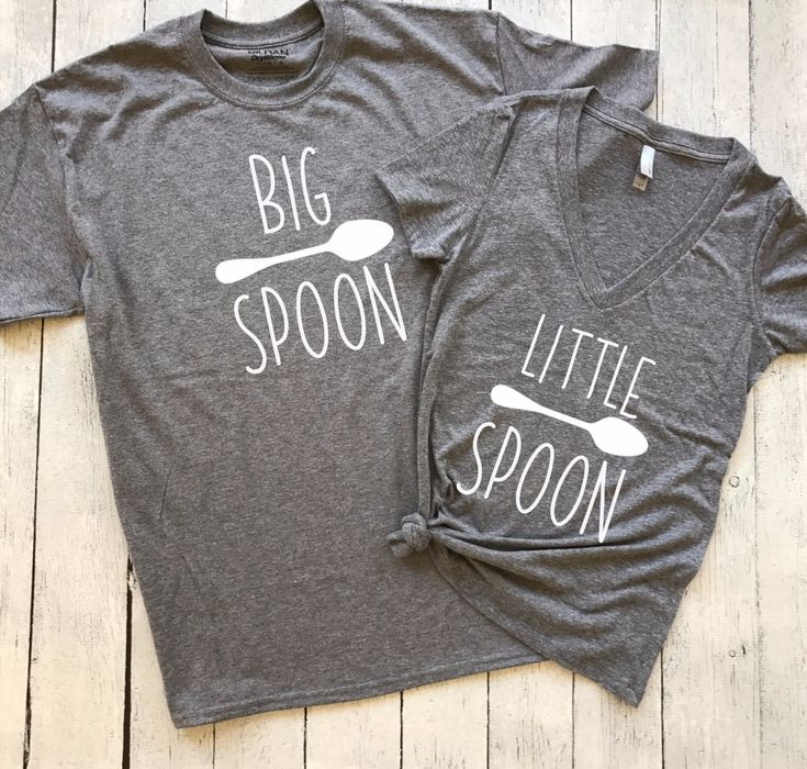 Big Spoon and Little Spoon | Set of 2, couples shirts, his and her, hubby wifey, big spoon, little spoon, funny his and her shirts
