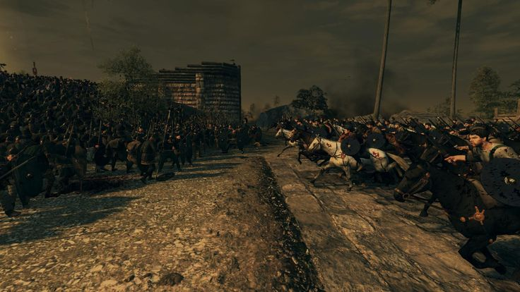 [Total War Attila]Roman cavalry charging into the flank of germanic barbarians