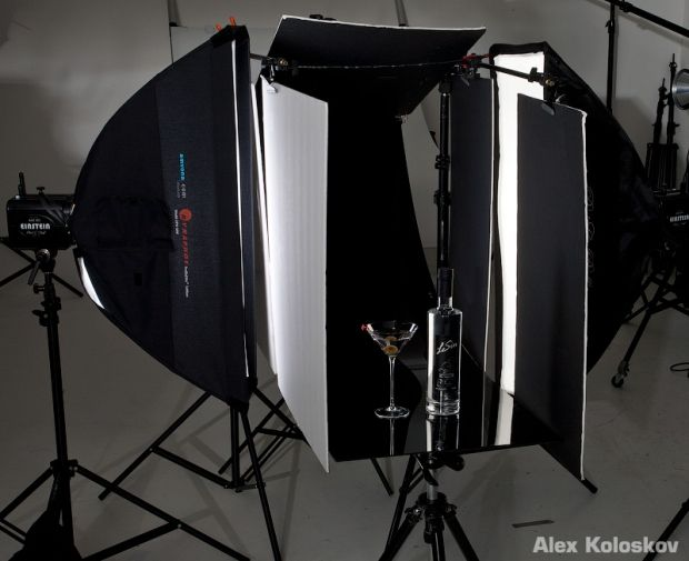 how to set up lighting for product photography