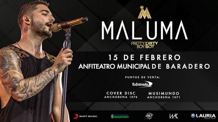 http://ift.tt/2kQREe5 http://ift.tt/2kQTlbG  Maluma se presentará en Baradero el 15 de febrero en el marco del #MalumaWorldTour con el que realizó una histórica gira durante el 2016 con un éxito impresionante: realizó 21 conciertos con 150.000 entradas vendidas y más de 9.000 kilómetros recorridos incluyendo tres Estadios Luna Park y un Estadio DIRECTV Arena todos completamente agotados. Si te quedaste afuera esta vez no te lo podés perder! Maluma es el primer Artista Latino masculino en…