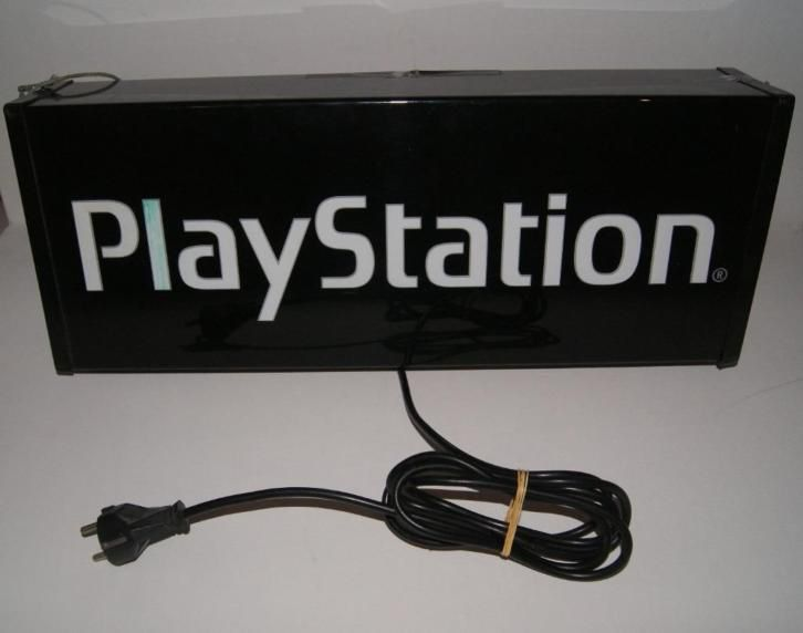 Playstation Shop Display Light Sign Lichtbak (RARE ZELDZAAM)