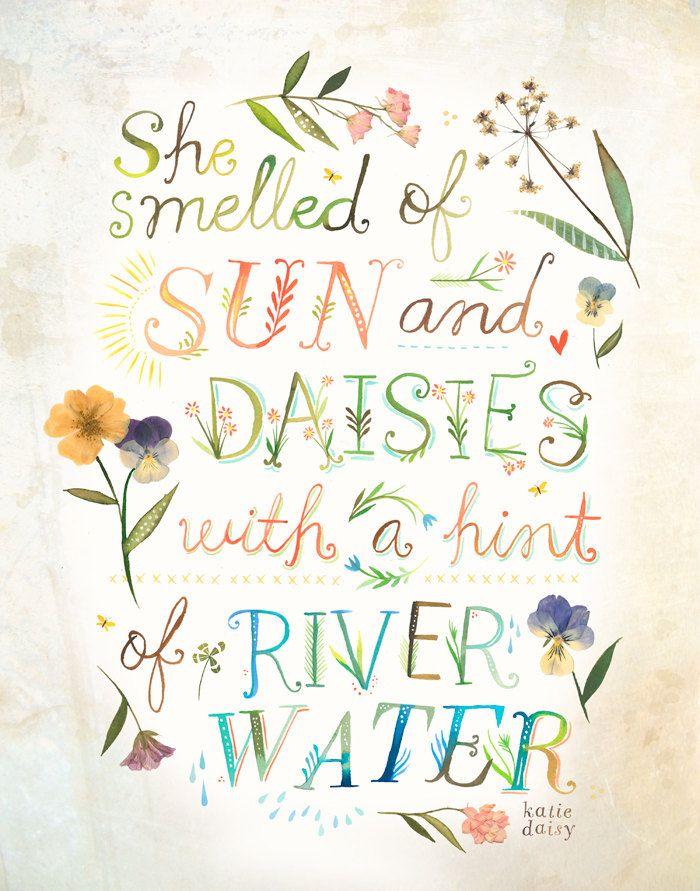 "myonlysunflower: "" Sun and Daisies - vertical print """