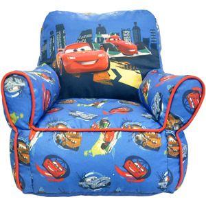 Disney Cars 2 Toddler Bean Bag Chair Soft Yet Durable