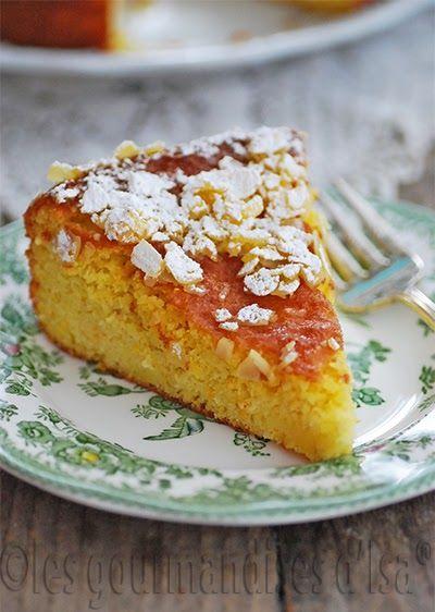 sans gluten, orange, fondant, gâteau orange, amandes,