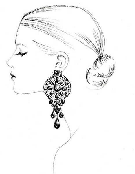 Line Drawing Face Earrings : Best images about jewellery illustration on pinterest