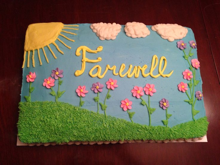 Goodbye Cake Images : Cake Decorating Farewell Cake Ideas and Designs
