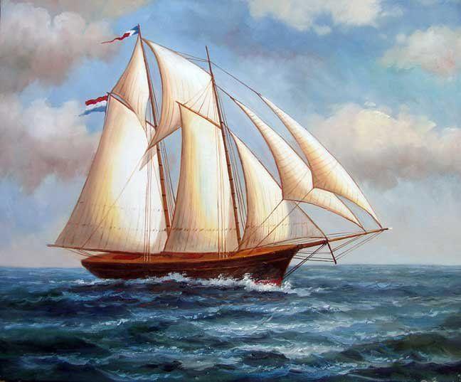 Barato 2 mastros 1800 s barco à vela oceano pintura a óleo Seascape, Compro Qualidade Pintura & caligrafia diretamente de fornecedores da China:  descrição   Eu sou um homem de negócios em Pequim , como você sabe , a cultura do chinês 5.000 anos da história contem
