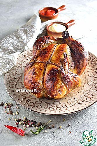 Курица с яблоками и ароматной пропиткой