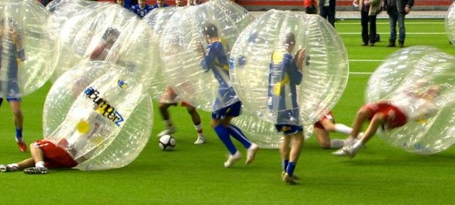 Full Contact Bubble Soccer!!! So fun I need this!