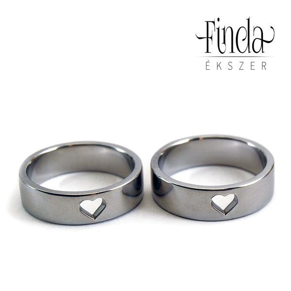 Kicsi szív karikagyűrűpár ⋆ Finda Ékszer