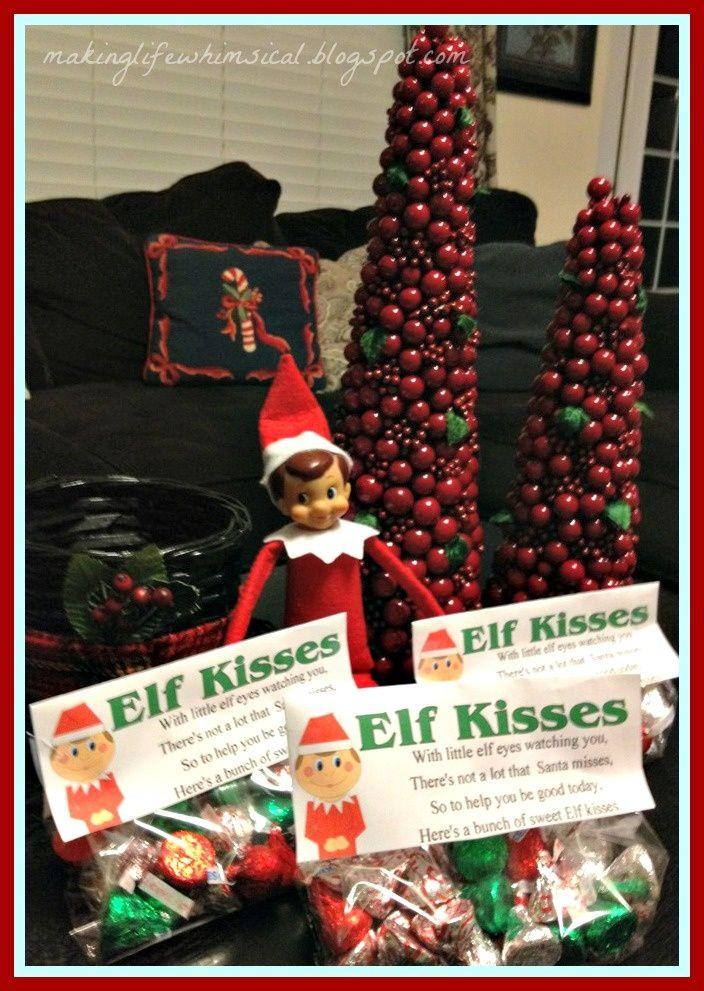 Elf kisses homemade holidays pinterest we christmas for Elf on the shelf chocolate kiss