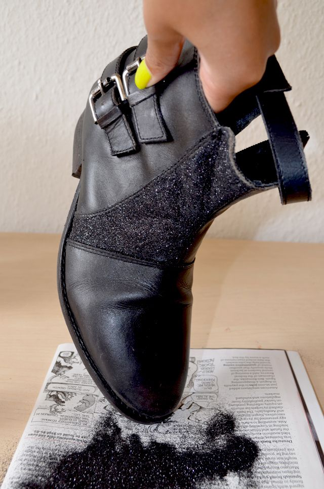 DIY- how to glitter your shoes tutorial