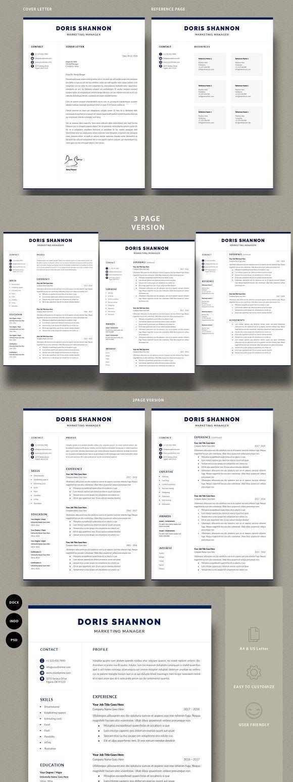 Resume Template CV Template 2344 best