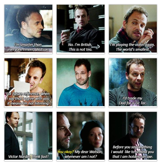 Elementary!  One of the best American crime shows I've seen... So basically the third or fourth best ever. Love pic 3