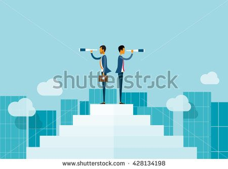 two business man looking  opportunities.and business vision concept