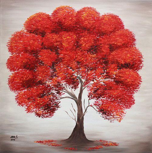 Energetický obraz Strom lásky, Olejomaľba  80x80cm