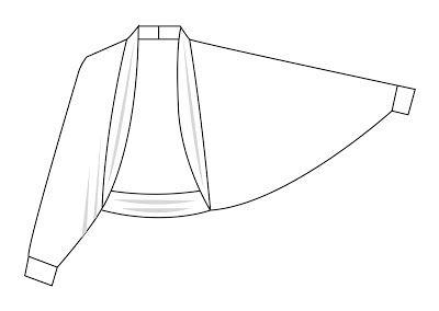 Strickjacke nähen - the cardigan how-to - legere Jacke mit Fledermausärmel