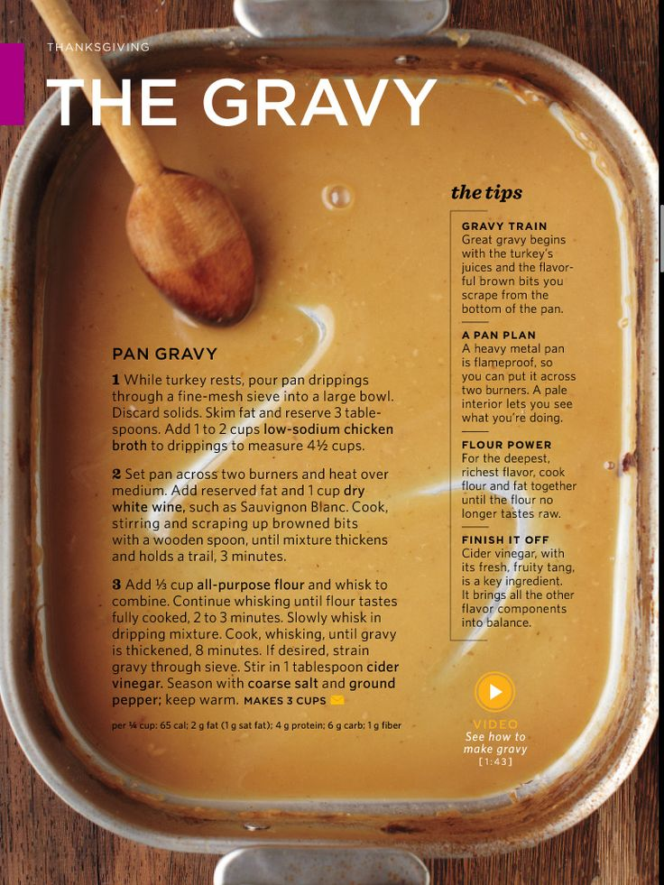 "Thanksgiving recipe ~ The gravy Source: Martha Stewart's ""Everyday Food"" Magazine More"
