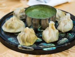 Momo (Nepalese Dumplings) with Coriander Chutney from CookingChannelTV.com