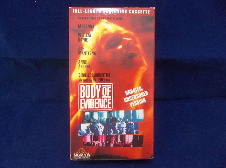 Body Of Evidence Unrated 1993 Rare Screening Cassette Erotic Thriller VHS Tape  #BodyOfEvidence #Unrated #Uncensored #Rare #Screening #Vintage #VHS #Video #Thriller #Erotic #Madonna #WillemDafoe #JoeMantegna #AnneArcher #Bonanza