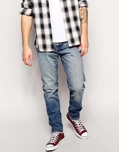 Abercrombie & Fitch - Karottenjeans - Mittelblau #covetme #abercrombie&fitch