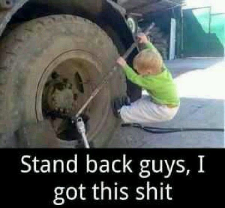 Too cute..reminds me of our son! He loves trucking with his daddy
