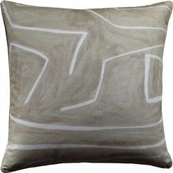 Grafitto Beige Pillow by Ryan Studio