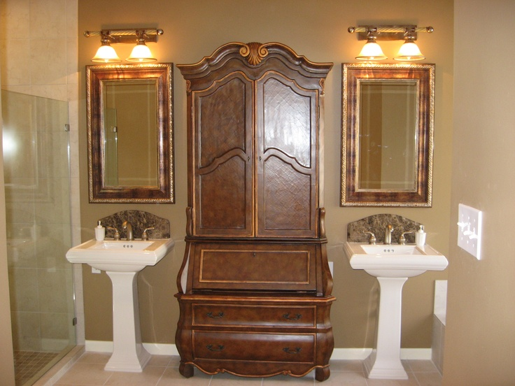 Gallery For Photographers Bathroom remodel with pedastal sinks with custom marble backsplashes