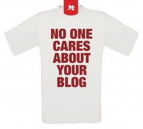 NO ONE CARES ABOUT YOUR BLOG Unisex Crew Neck T-Shirt