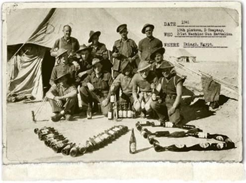Egypt 1941 . A german propaganda/radio anouncer labelled the Australian troops holding Tubruk as Rats. The Aussies ended up loving the name and kept it. The V.B sign is a popular beer in Australia