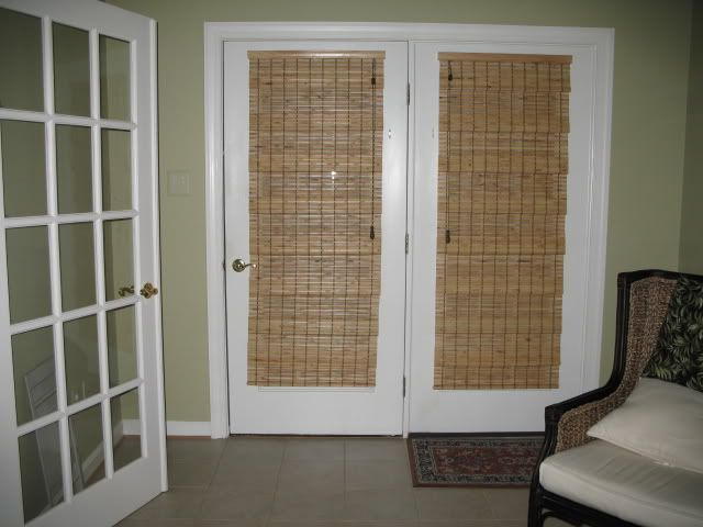 French Doors Exterior With Blinds