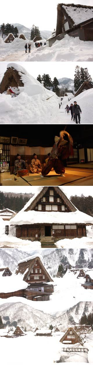 Great Gassho House! See the houses for heavy snow region in Japan.