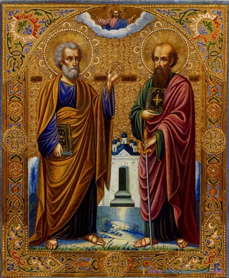 Saints Peter and Paul icon Frank Bultinck http://jezusmariagroep.blogspot.be/.../11/god-is-liefde.html