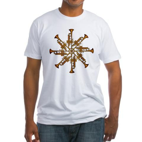 Cool trumpet and cornet design.  See it at http://www.cafepress.com/big_johns/2939510  See all our designs at http://www.cafepress.com/big_johns