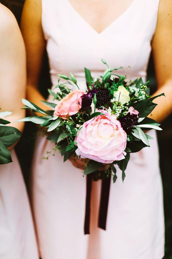 pink bridesmaid bouquet - photo by Pat Furey http://ruffledblog.com/stylish-pennsylvania-bird-sanctuary-wedding