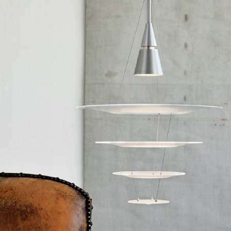Enigma pendant designed for Louis Poulsen in Denmark by the Japanese designer Shoichi Uchiyama.