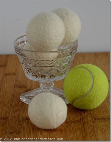 Dryer Balls Tutorial: Learn How to Wool Make Dryer Balls and save money on drying your clothes. Felted Wool Dryer Balls are easy and inexpensive to make. These would make a great gift. #seasonedhome