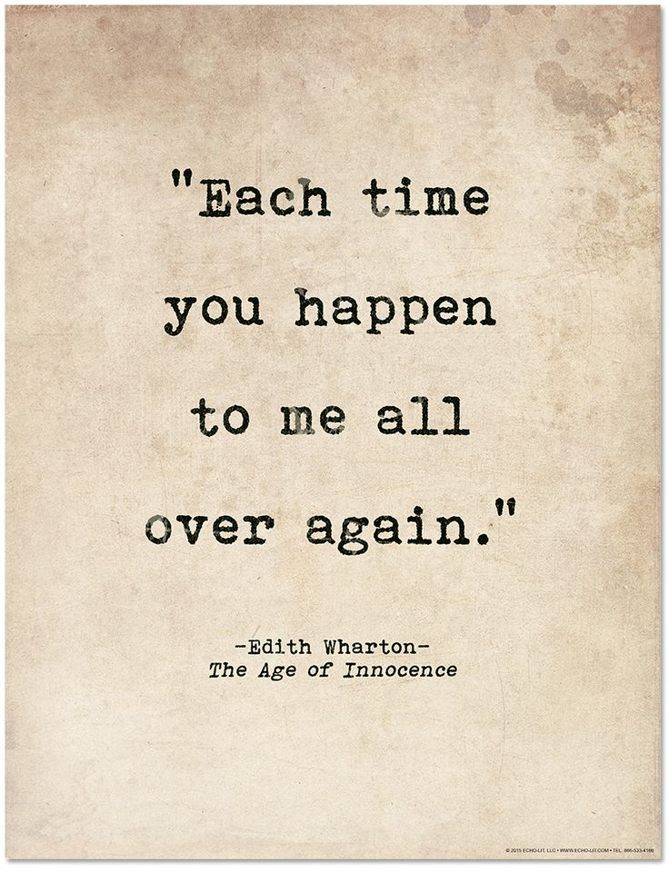 Romantic Quote Poster - Age of Innocence by Edith Wharton Literary Print for Home or School - Echo-Lit