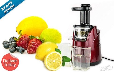 READY STOCK! Deliver Today! Slow Juicer Makes Fresh, Healthy Juices with Less Oxidation! 100% Pure Extractor! FREE Peninsular Delivery.  SHOP NOW : http://www.hulala.com.my/deal/slow-juicer-102-3