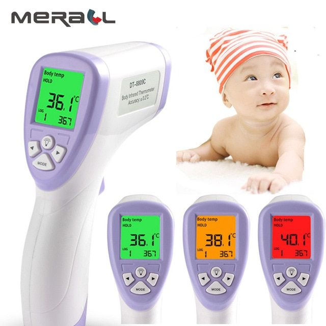 New Digital LCD Ear Forehead Thermometer Baby Kids Adult Fever Temperature Meter