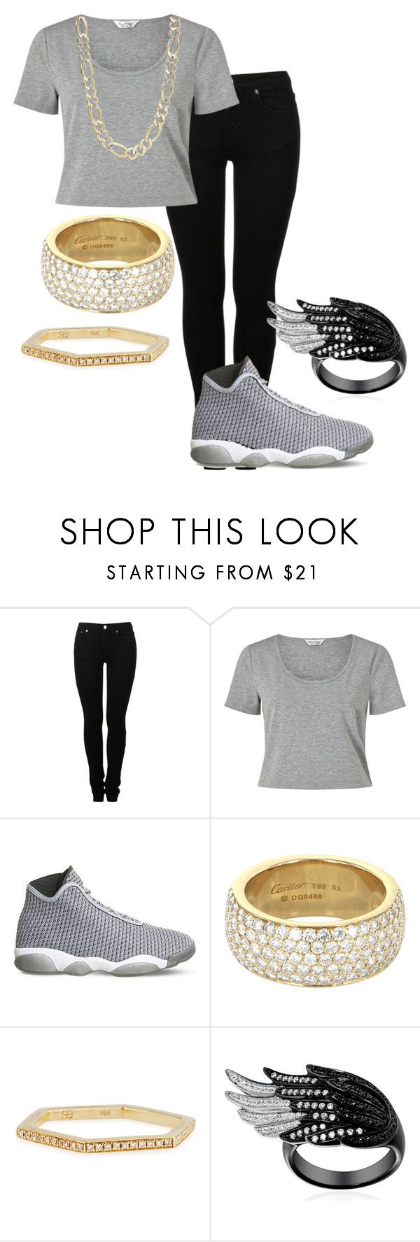 """Cute Swag Outfits"" by jaliyahk on Polyvore featuring MM6 Maison Margiela, Miss Selfridge, NIKE, Cartier and Sydney Evan"