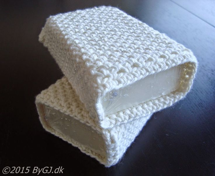 by GJ: Sæber med betræk - Crochet soap covers