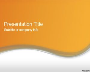 If you are looking for free templates for Microsoft PowerPoint 2013 then this orange PPT template is a good alternative
