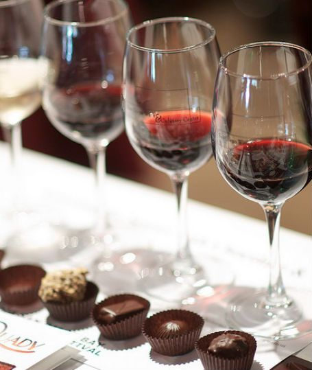 """wine & chocolates.  """"A glass a day and your skin will glow."""" Other uses for wine."""
